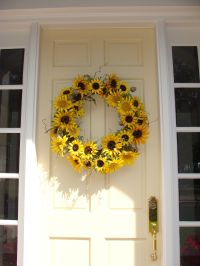 Sunflower wreath for front door | Home Decor | Pinterest