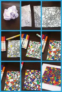 Simple Art Activity Stress Relief