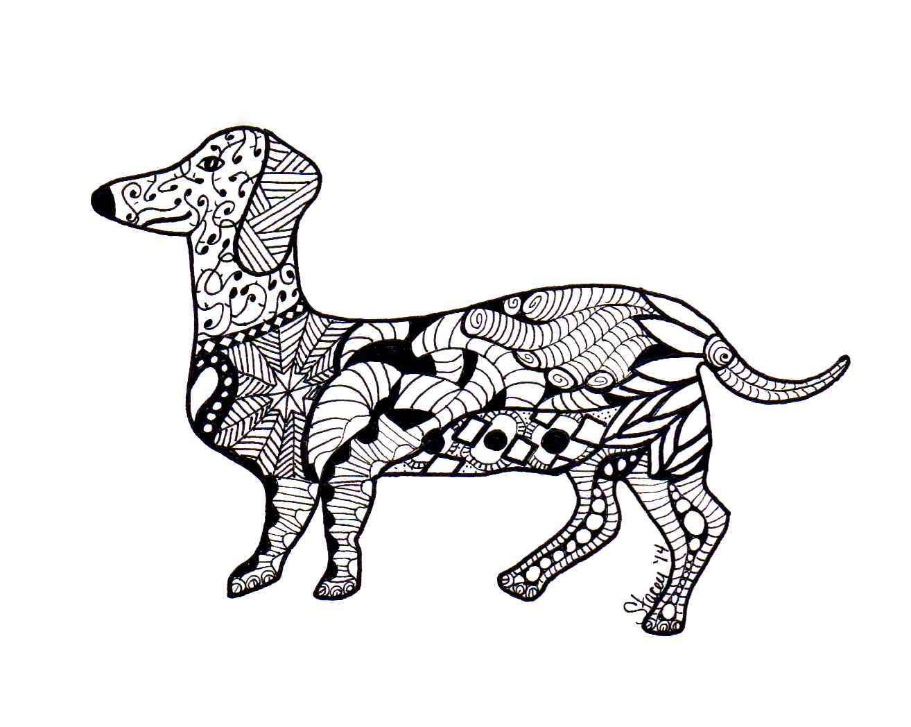 Zentangle Dachshund