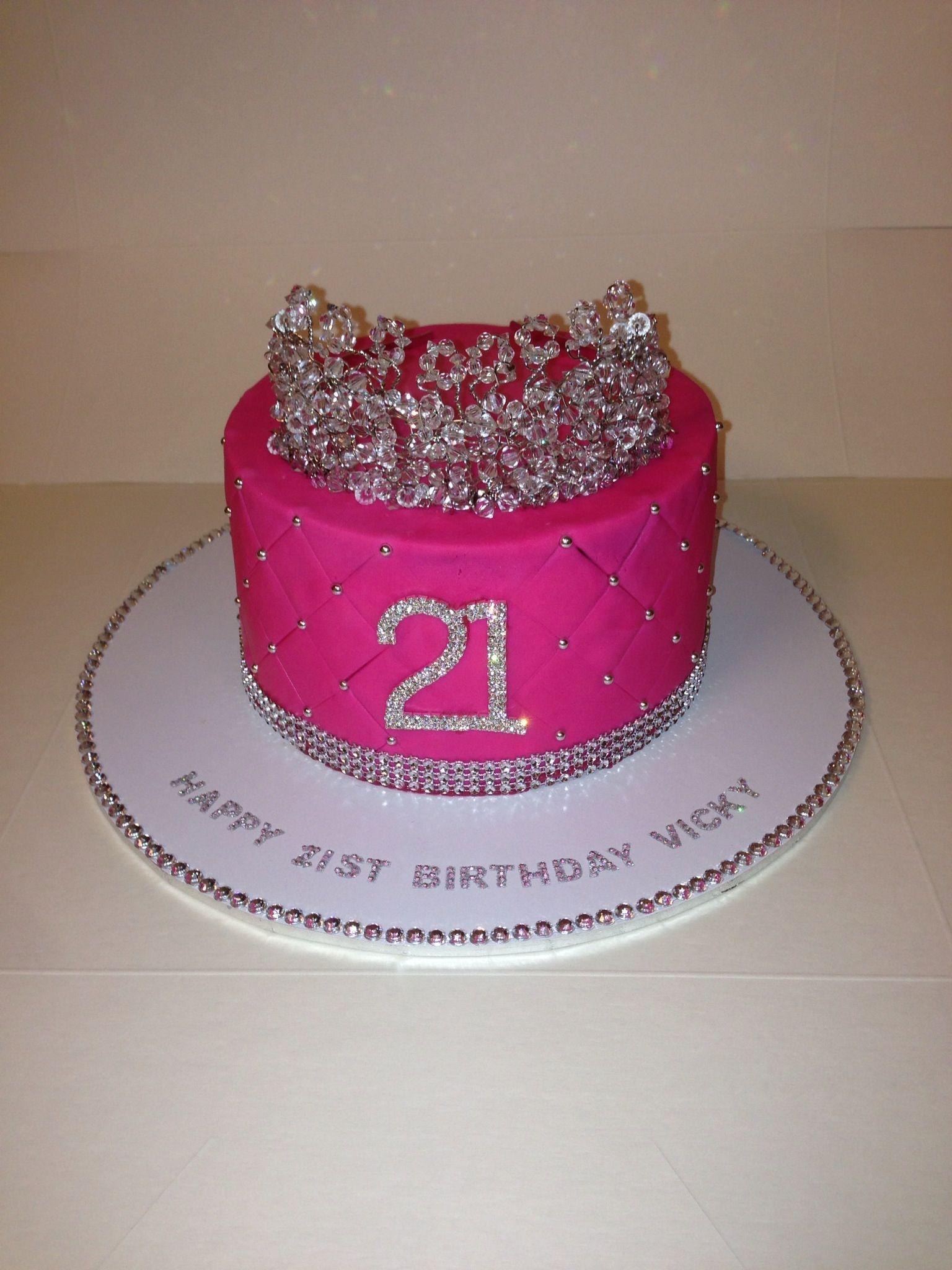 Tiara 21st Birthday Cake
