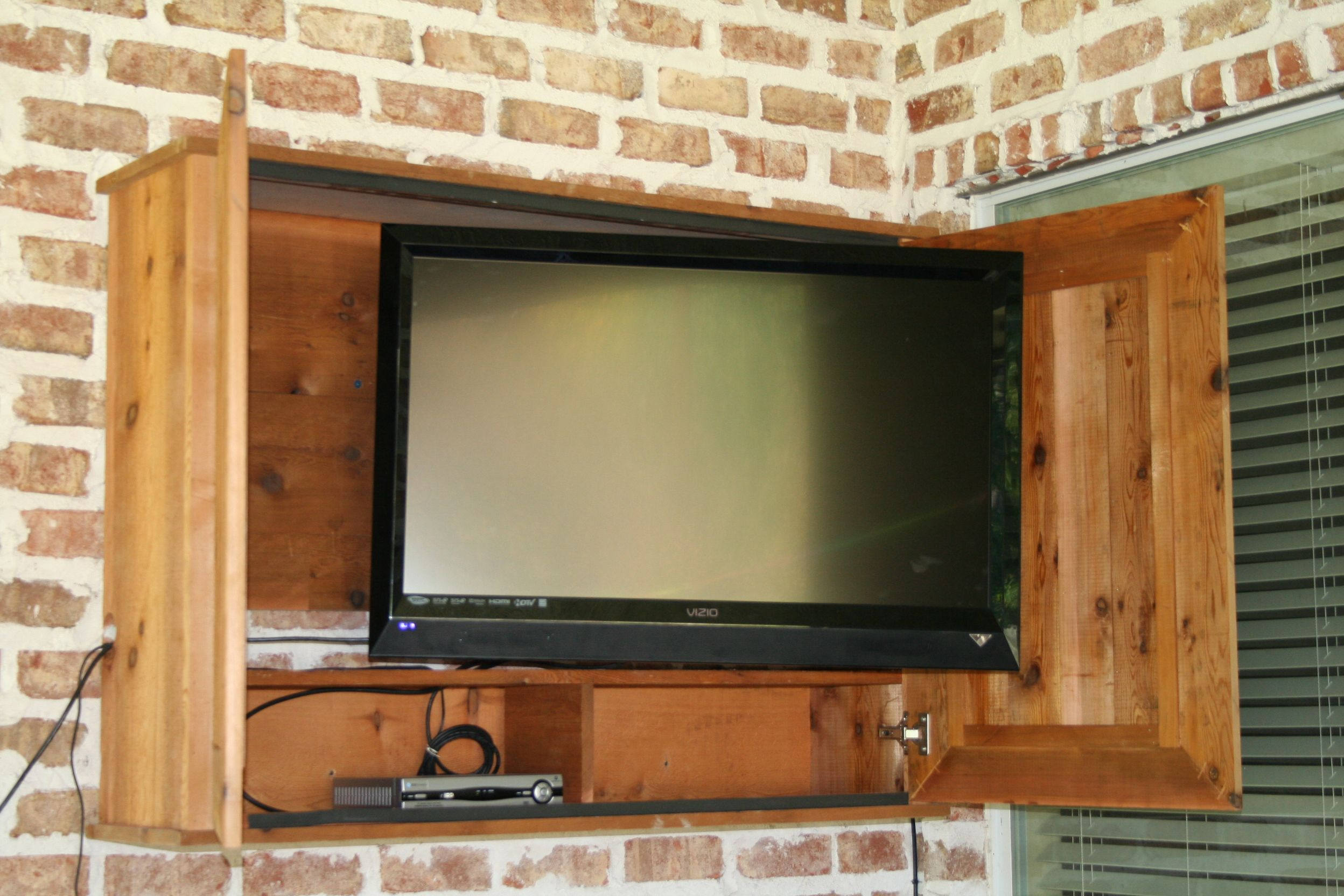 Outdoor TV cabinet for the patio  DIY  Pinterest
