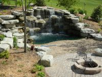 Backyard Waterfall | Water Features | Pinterest