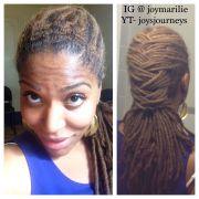 simple loc bun black women natural