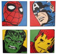 Marvel Comic Superhero Pop Art Set | Kids | Pinterest