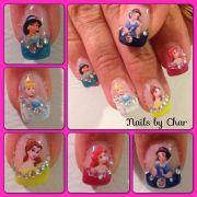 disney princess nails char