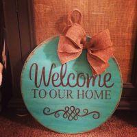 Wood door hanger | Lou Lou handmade | Pinterest