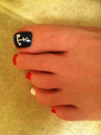 Anchor Toe Nail Design | Nail Designs, Hair Styles ...