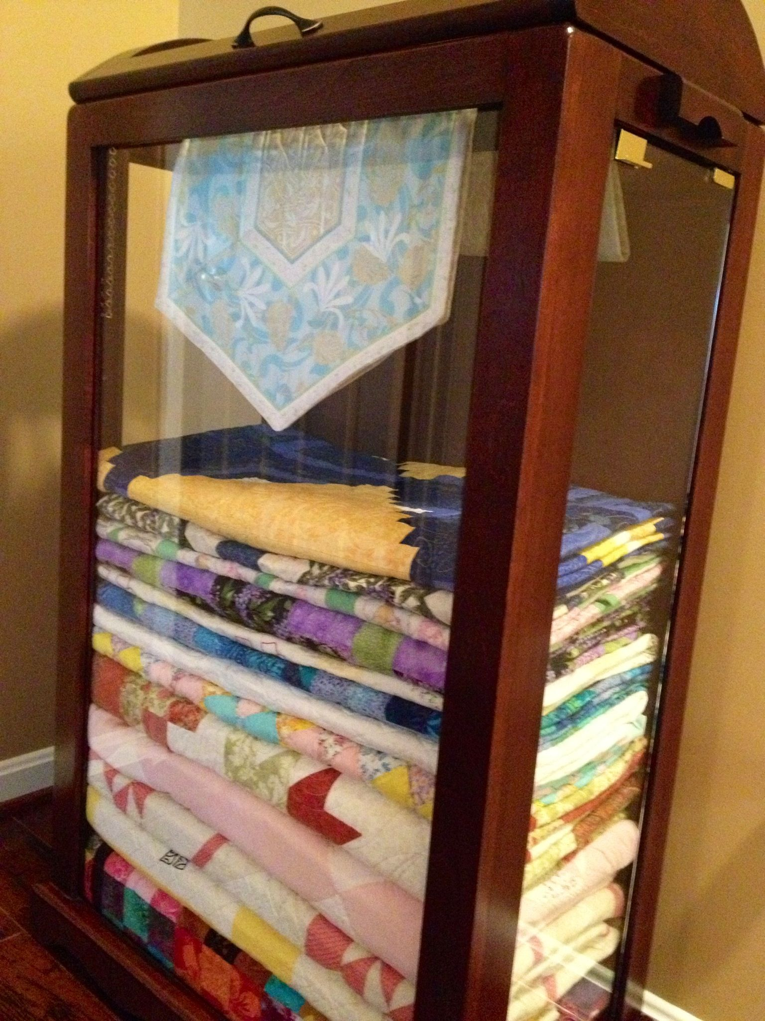 My new quilt cabinet  Quilts  Pinterest