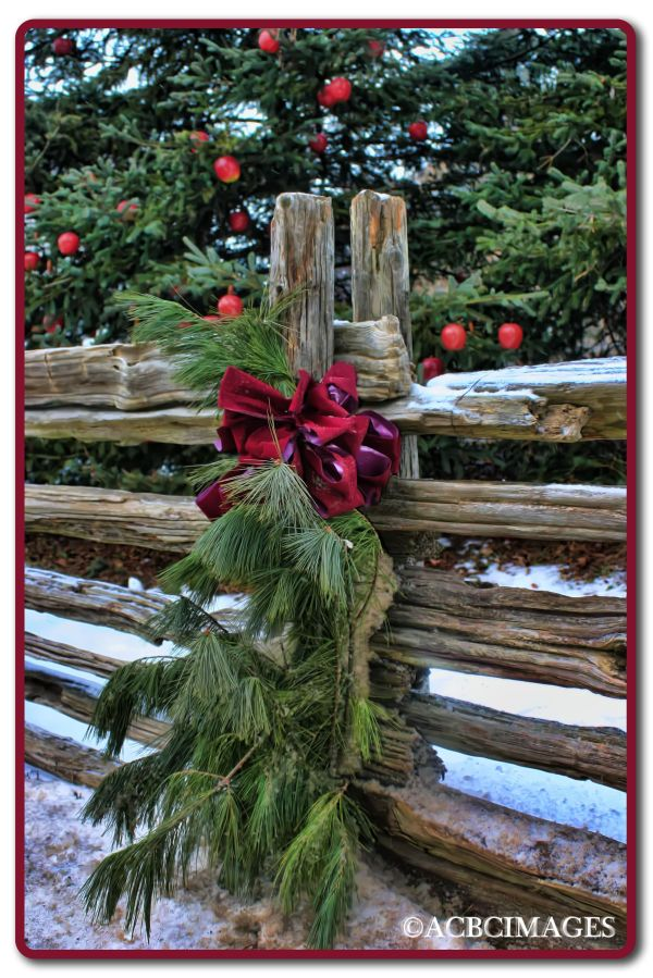 country christmas fence decorations