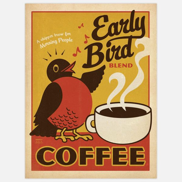 Early Bird Blend Coffee Art Print Anderson Design Group