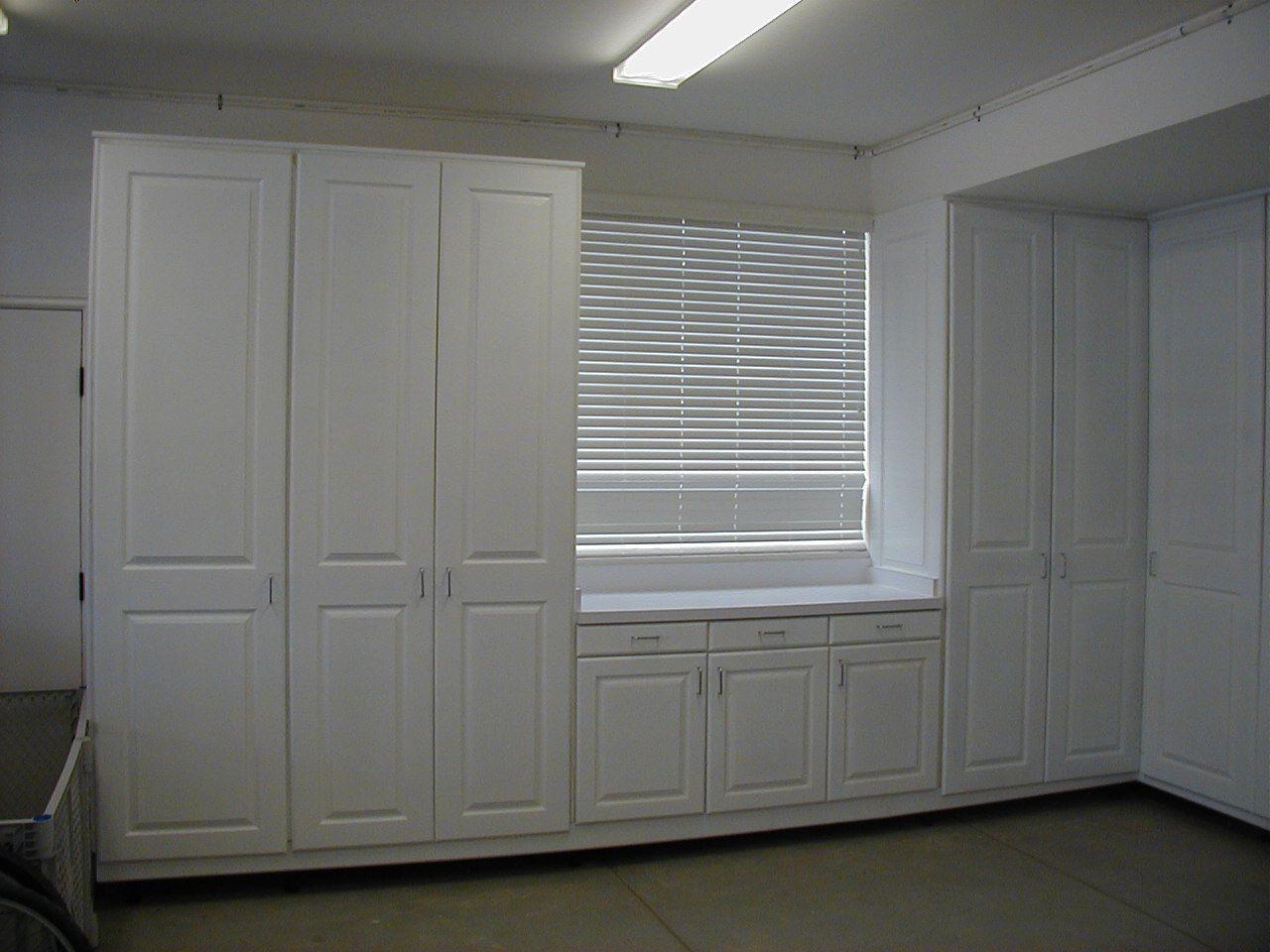 White Garage Cabinets #GarageCabinets