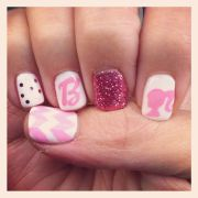 #barbie #pink #nails #manicure