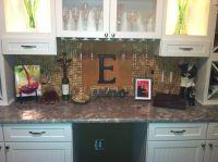 My new wine cork backsplash! | Projects | Pinterest