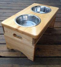 Wooden dog dish holder | boxes | Pinterest