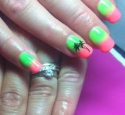 holiday gel nails nail art