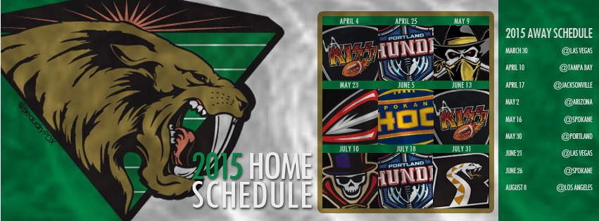 2015 San Jose Sabercats schedule cover image