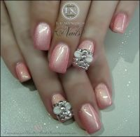 Light pink nail art gel nails, 3D | Nails | Pinterest
