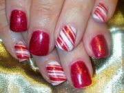 christmas gel polish nail art