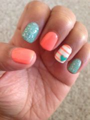 1000 ideas coral gel nails