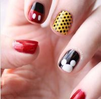 Mickey Mouse nail designs | Nail ideas | Pinterest