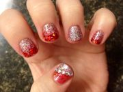 gel nails. christmas nails