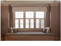 Box pleat valance over shutters