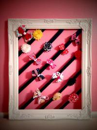 Fresh hair-bow holder. #DIY | HAIRBOW HOLDERS | Pinterest