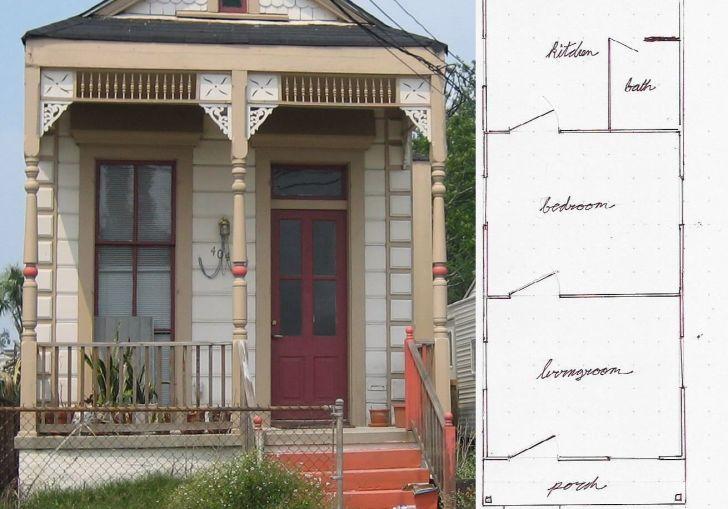 Shotgun House Floor Plans With A Porch