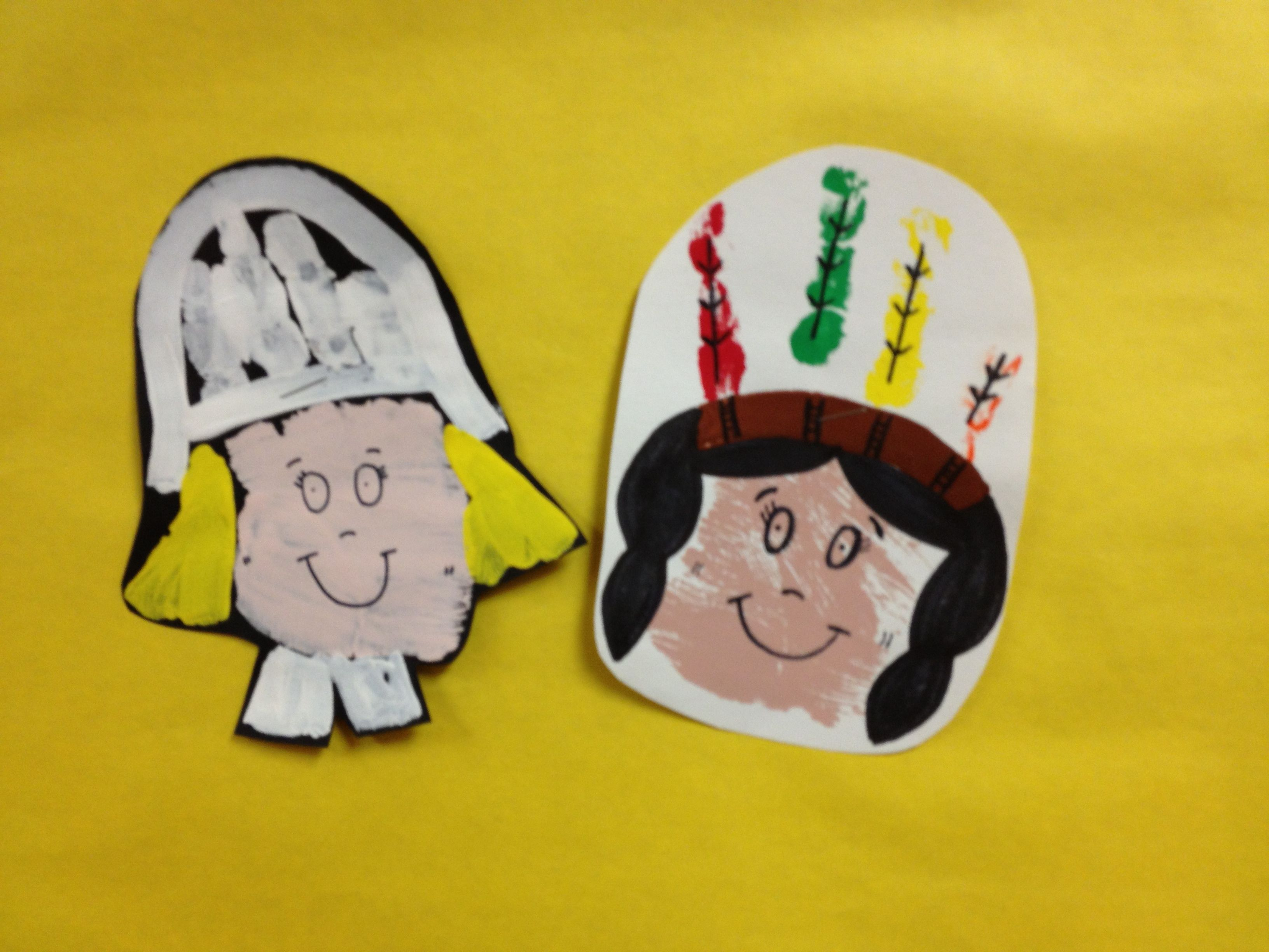 Pilgrims And Indians Crafts For Preschoolers