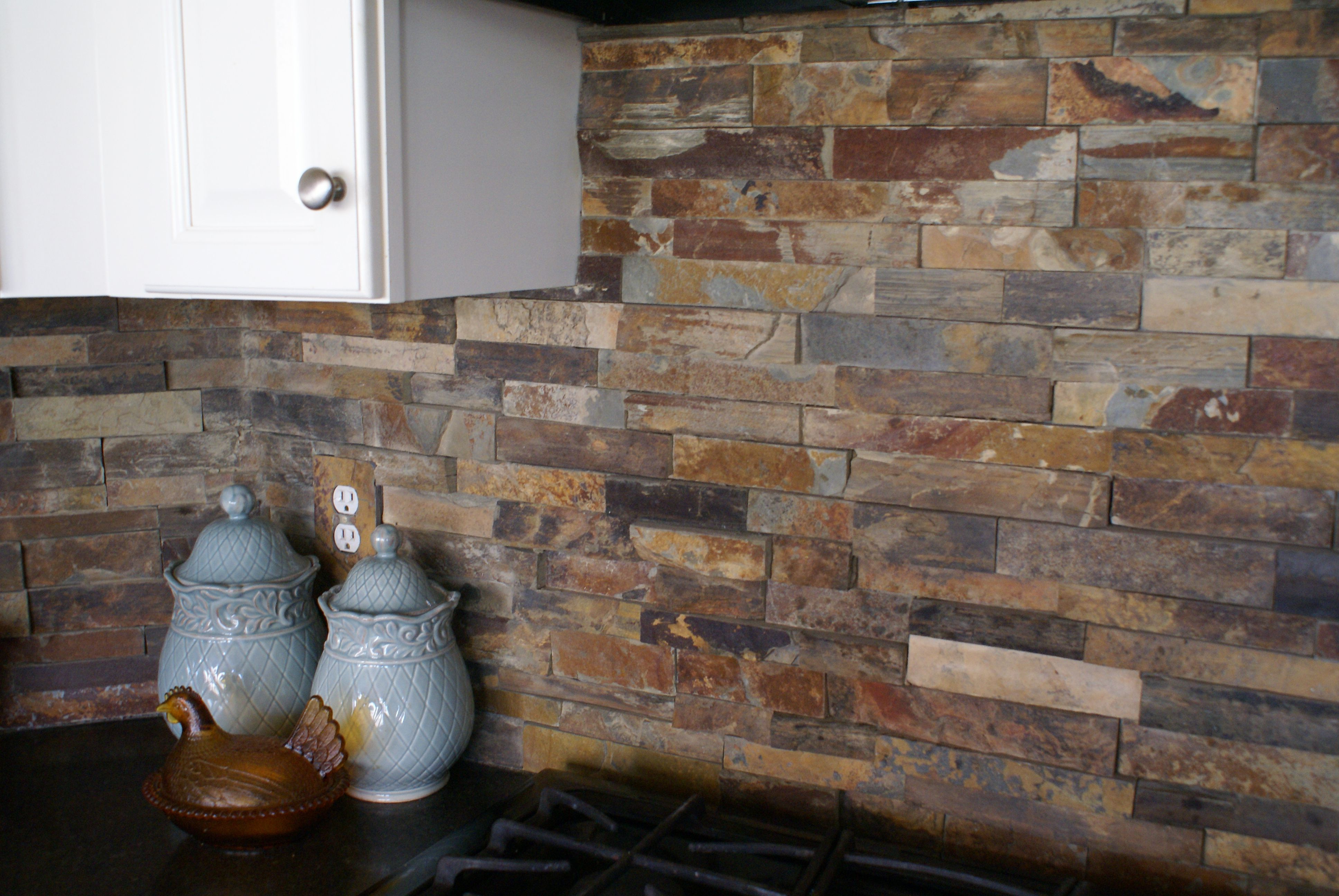 stacked stone kitchen backsplash cabinets lowes pin by ali long on home ideas pinterest