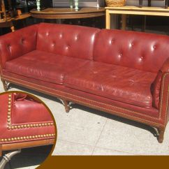 Decorating With Red Leather Sofas Stain Resistant Sofa Nail Head Trim Style