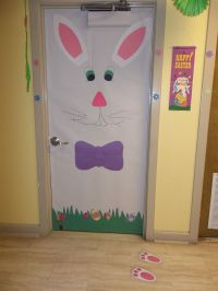 Easter time classroom door decoration