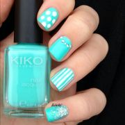 love teal color nails