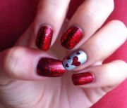 cute valentine's day nails. beauty
