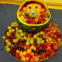 Baby shower fruit platter | party ideas | Pinterest