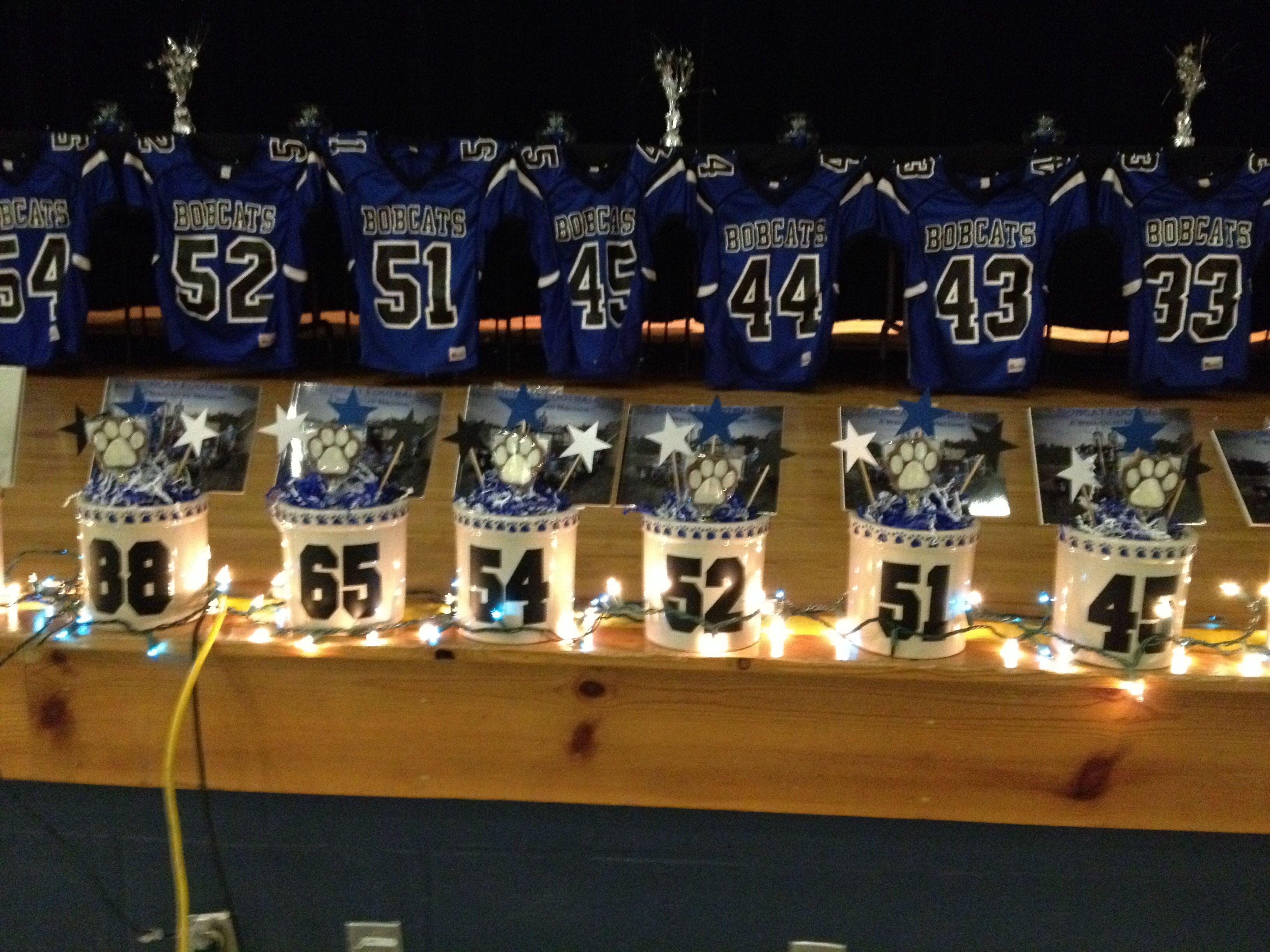 High School Football Table Decorations Photograph Football
