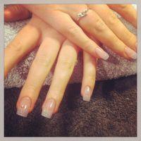 Natural acrylic nails using Entity | MANI & PEDI | Pinterest