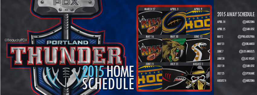 2015 Portland Thunder schedule cover image