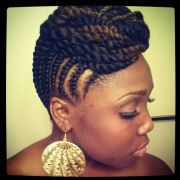 flat twist updo hair
