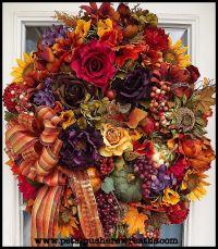 Autumn Joy fall decorative wreath!! | A FRONT DOOR FOR ...