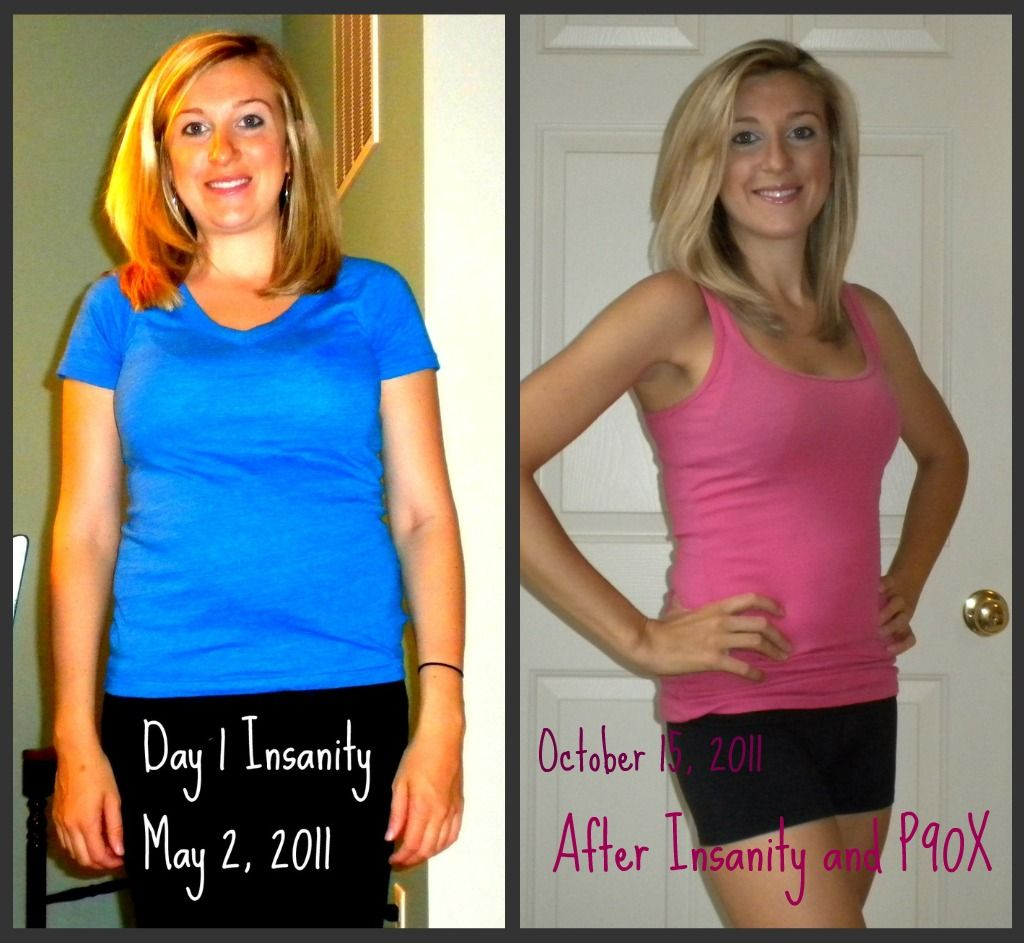 weight loss before and after women p90x