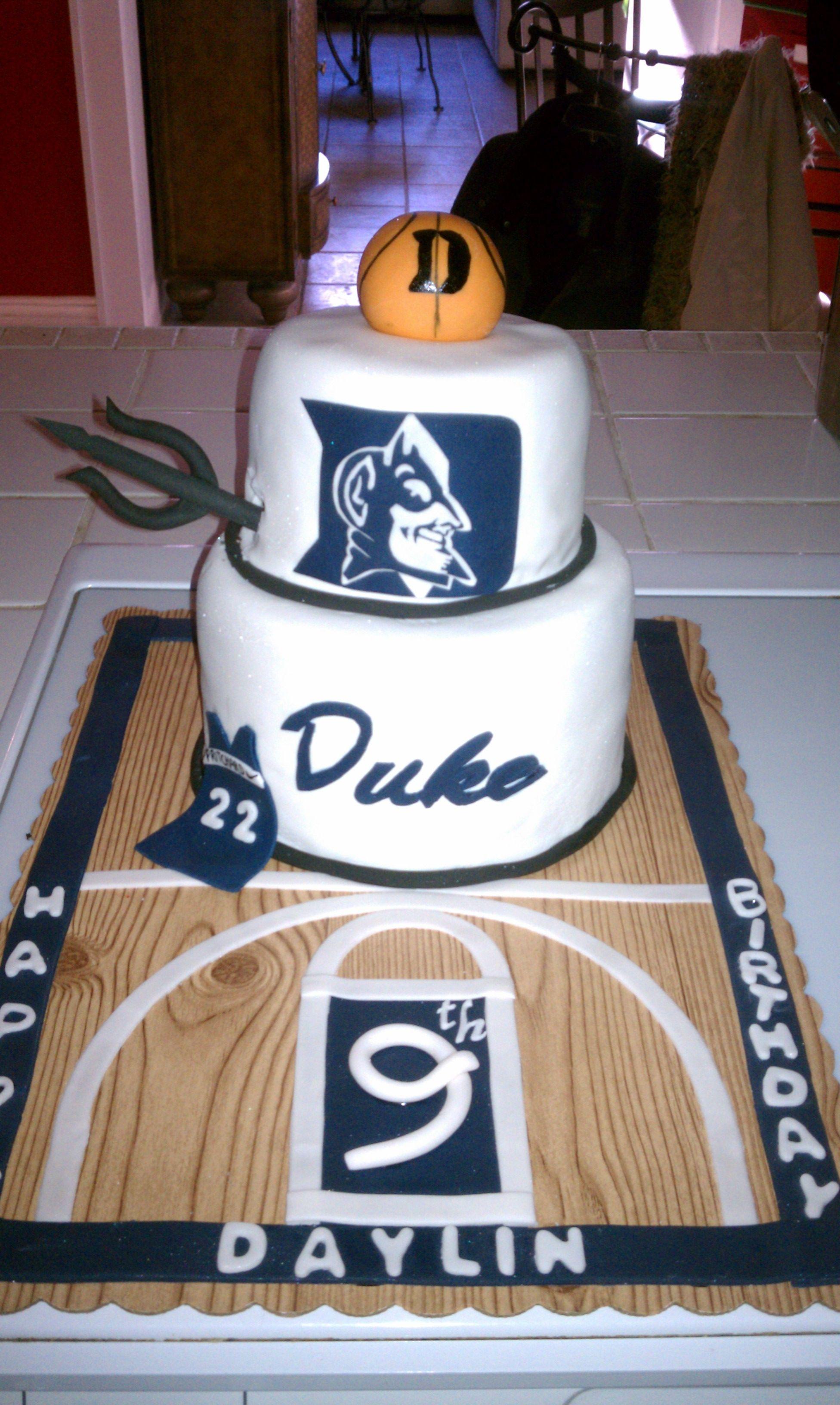 Duke Basketball Cake Ideas