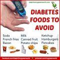 Diabetes foods to avoid diabetic food drink desert and things you