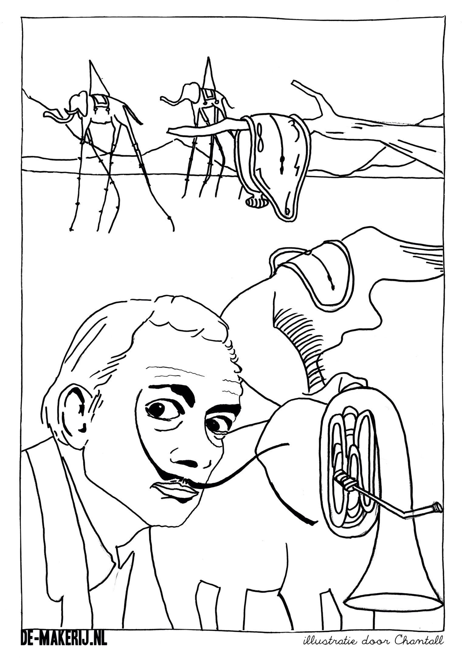 Salvador Dali Coloring Pages