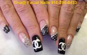 chanel nail art design