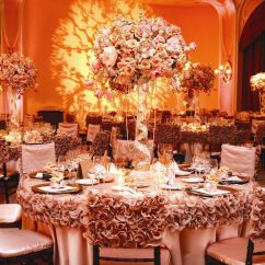 Wedding Chair Covers Montreal Posture Meaning Exquisite Linens Couture Peach Lace Vintage Tables