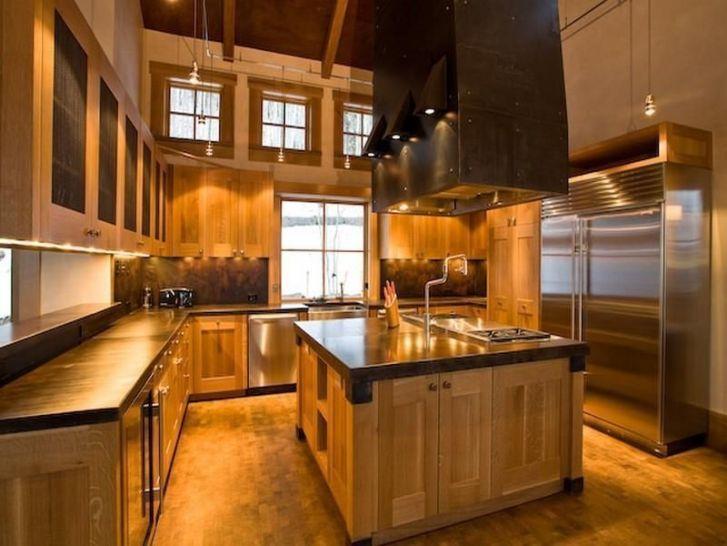 Cabin Kitchen Log Homes