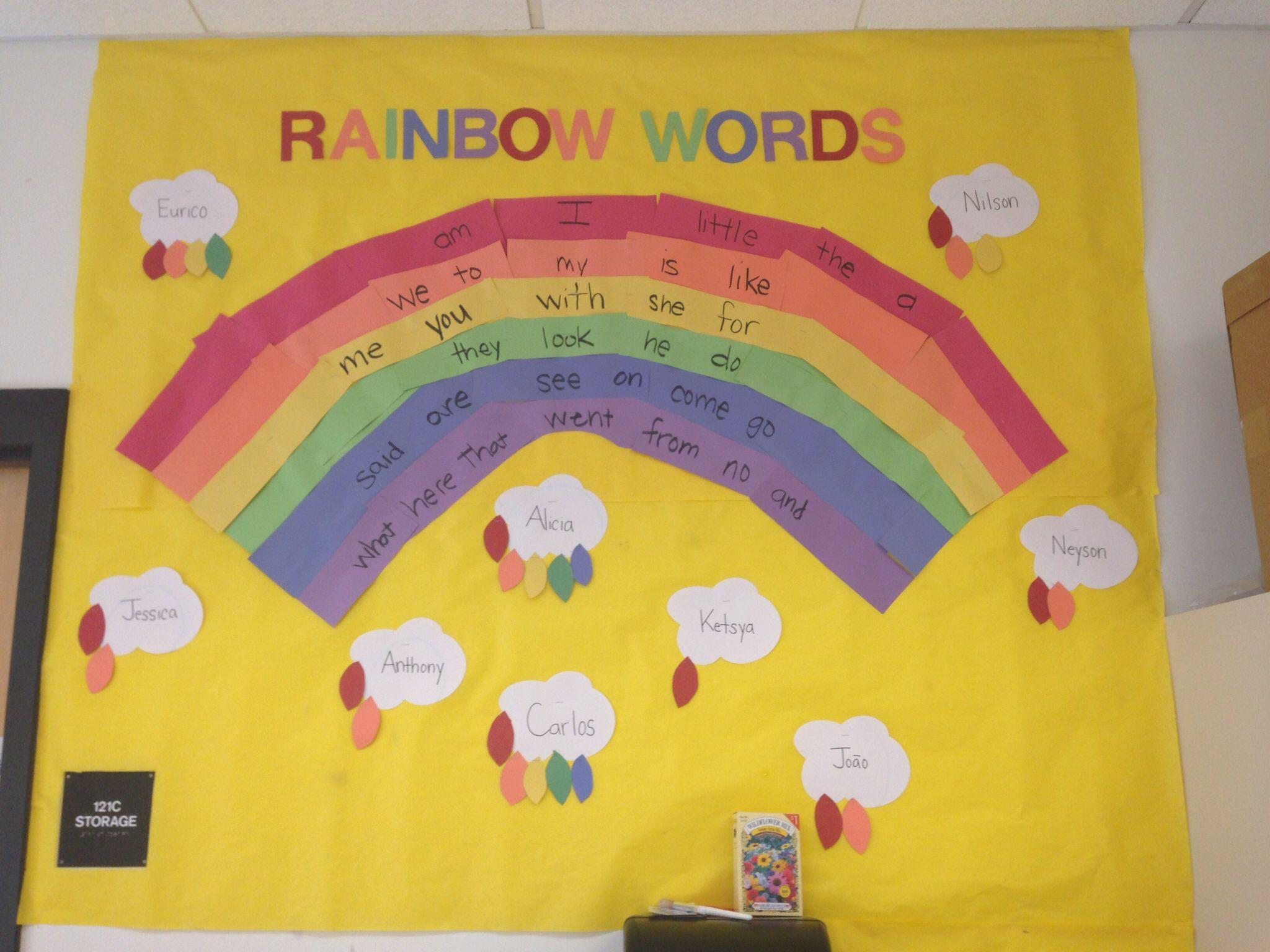 Rainbow Sight Words Board