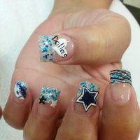 Dallas Cowboys | Nail Art!! = 0 ) | Pinterest
