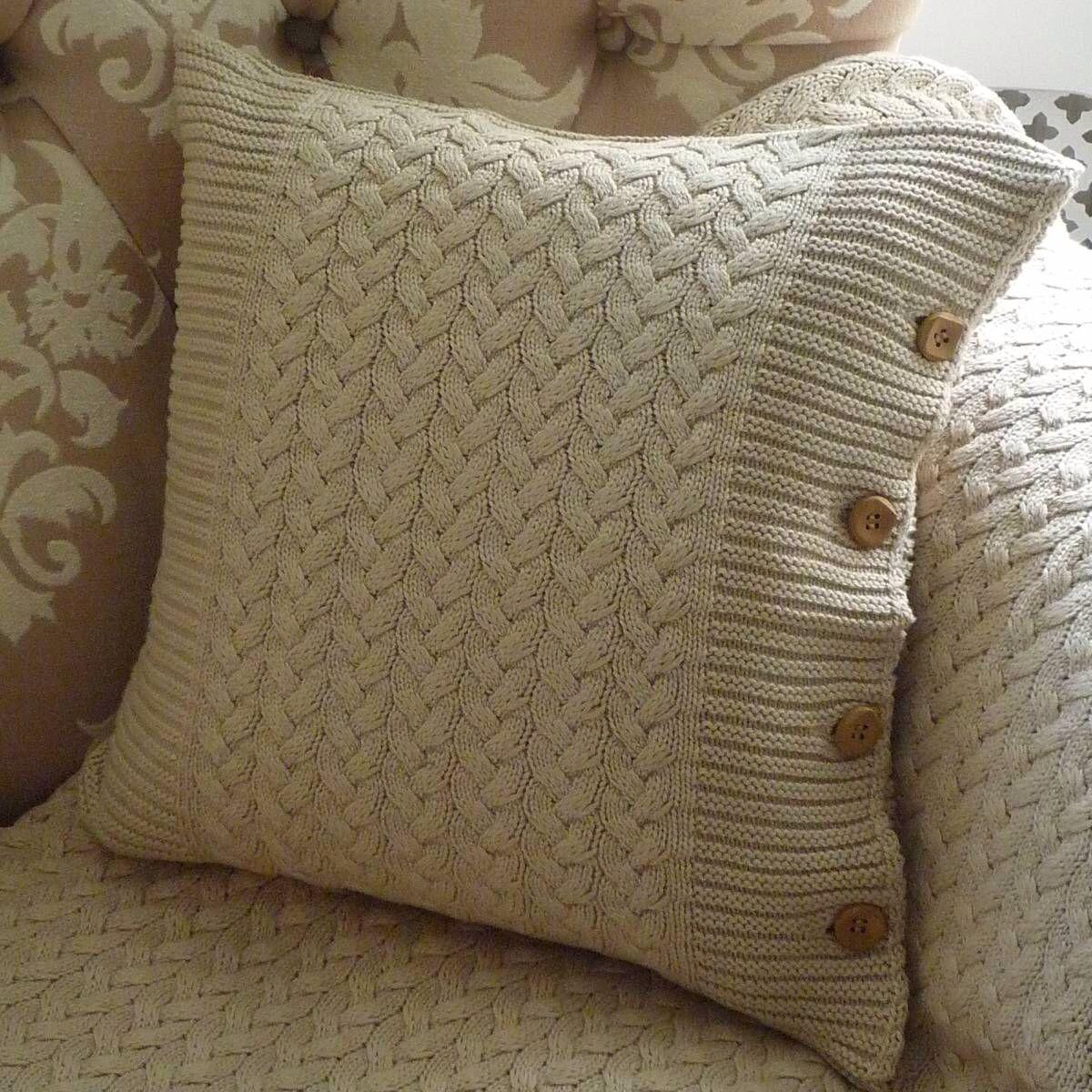 Knit pillows  Knittingcrochet patterns  Pinterest